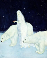 Edmund Dulac's 'Everything about her was white, glistening and shining' in the 1915 Edition of ''The Dreamer of Dreams''