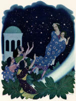 Edmund Dulac's '''Good-bye, Astrella! Good-bye, Perdita!'' they called' in the 1939 Edition of ''The Daughters of the Stars''