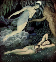 Edmund Dulac's 'Selene and Endymion' in the 1935 Edition of ''Gods and Mortals in Love''
