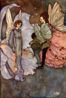 Edmund Dulac's 'She smiled at him very graciously when he was introduced to her' for the tale 'Princess Orchid's Party' in the 1911 Edition of ''My Days with the Fairies''