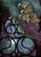Edmund Dulac's 2nd of 3 colour illustrations for 'The Bells' in the 1912 Edition of ''The Bells and Other Poems''